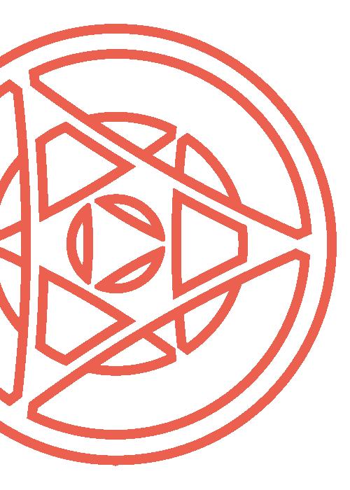 Medio símbolo rojo Educa Cowork
